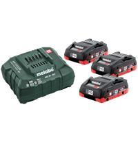 Metabo Basic-set 18V 3x4,0Ah Lader LIHD m/indsa