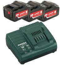 Metabo Basic-set 18V 3x4,0Ah Lader m/indsa